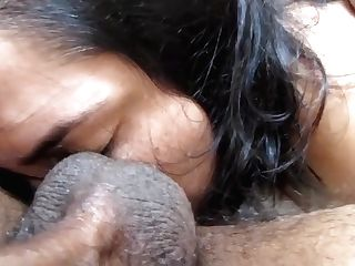 Hd: Perverted Milky Woman Worshps Dark-skinned Spunk-pump, Sack, Donk And Feet